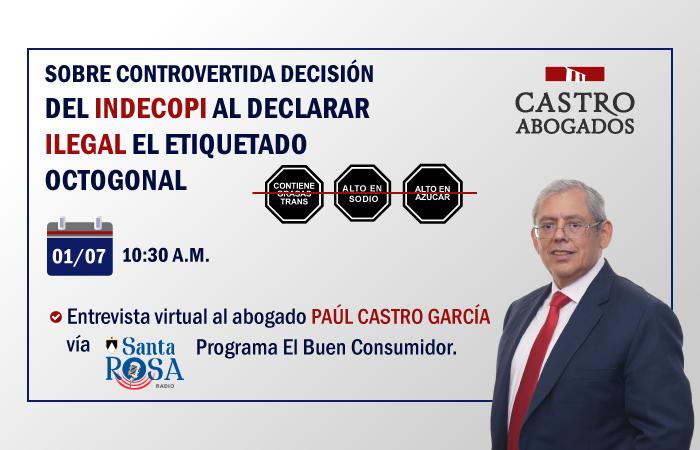 INDECOPI DECLARA ILEGAL EL ETIQUETADO OCTOGONAL